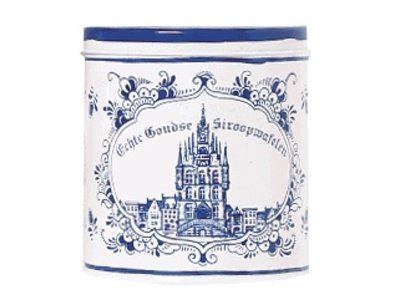Verweij Delft Tin with Stroopwafles