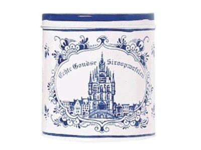 Verweij Delft Tin with Stroopwafles