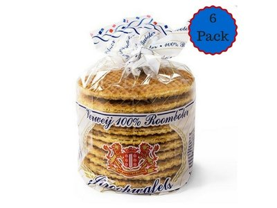 Verweij Verweij 6 Pack 100% Butter Stroopwafels 6x10