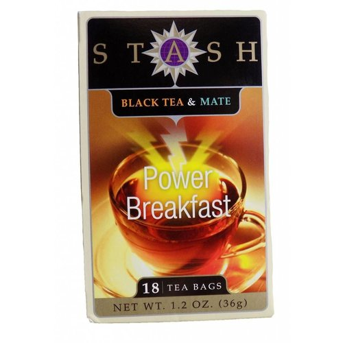 Stash Stash Power Breakfast Black tea with Yerba Mate 18 ct