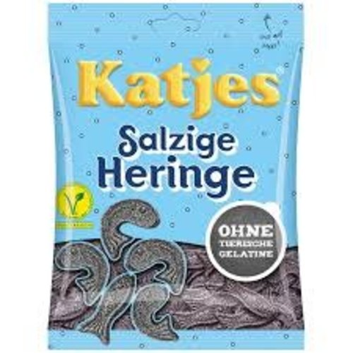 Katja Katjes Licorice Fish shapes 7 Oz bag
