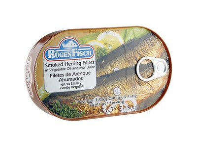 Rugenfisch Rugenfisch Smoked Herring Fillet In Oil 6.7 oz Tin