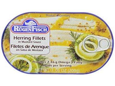 Rugenfisch Rugenfisch Herring Fillet Mustard 7.05 oz Tin