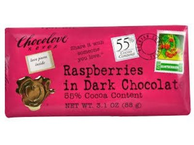 Chocolove Chocolove Dark Chocolate Raspberry Bar