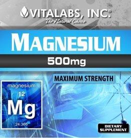 Vitalabs, INC Magnesium 500MG Vitalabs 120 Capsules