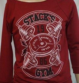 Stack's Gym Lightening barbell shoulder slouch shirt