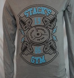 Stack's Gym Hooded Long Sleeve Lightning Barbell Logo