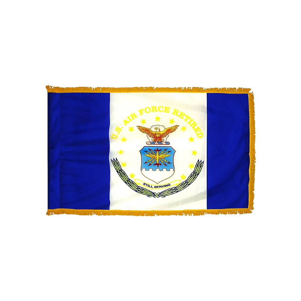 Air Force Retired Flag with Polesleeve & Fringe