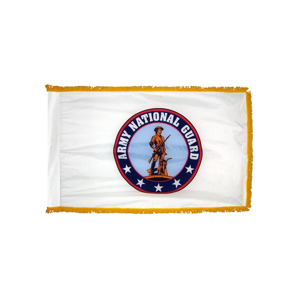 Army National Guard Flag with Polesleeve & Fringe