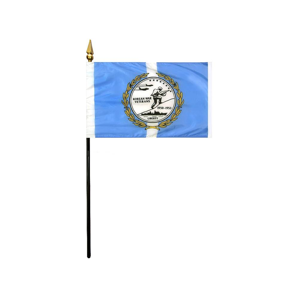 Korean War Veteran Stick Flag