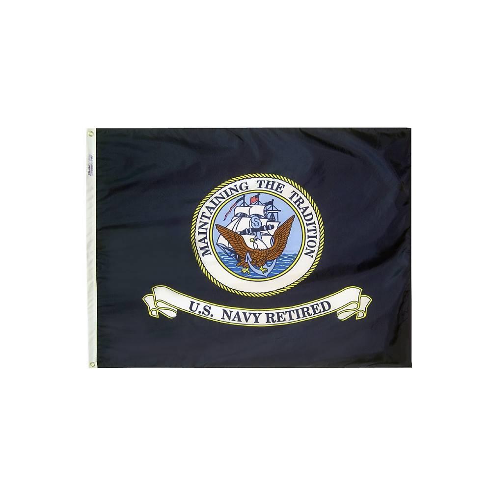 3x4 ft. Navy Retired Flag