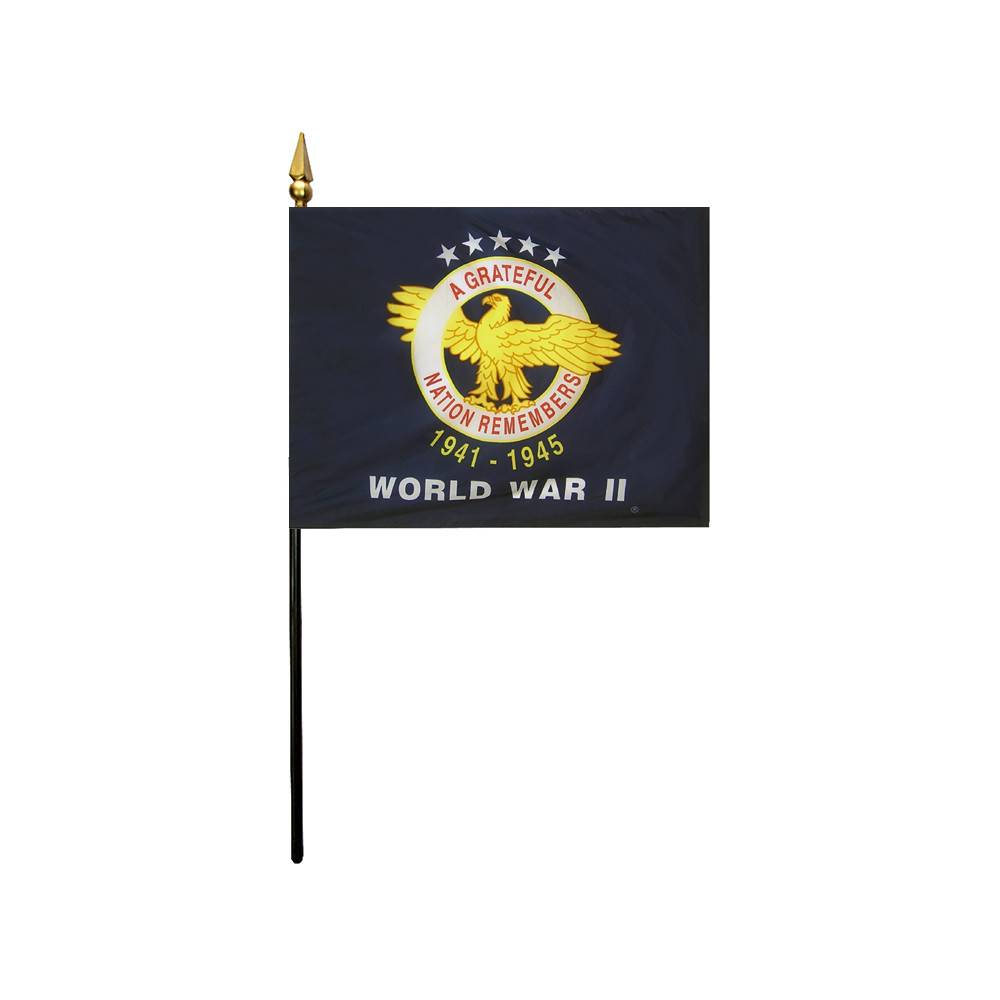 World War II Commemorative Stick Flag
