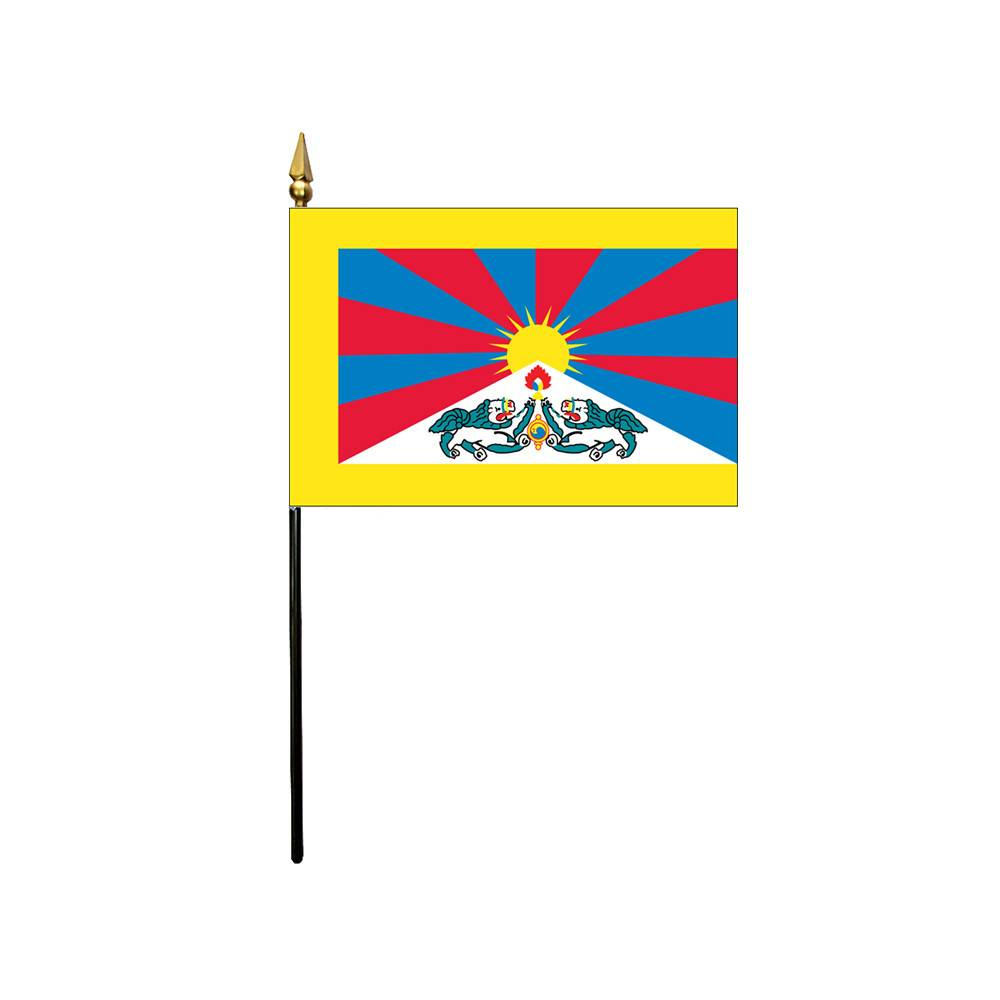 Tibet Stick Flag 4x6 in