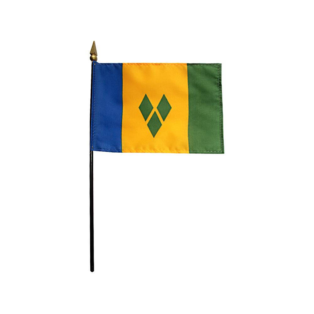 Saint Vincent & the Grenadines Stick Flag 4x6 in