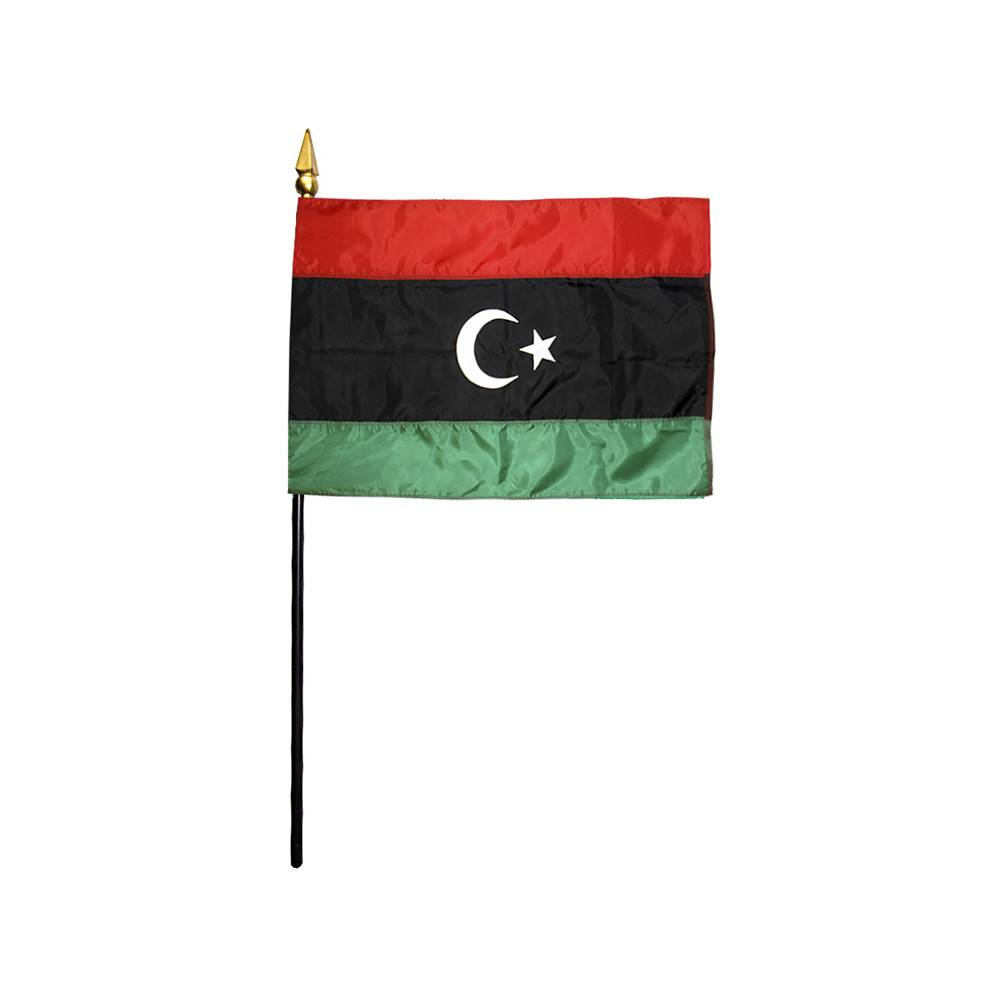 Libya Stick Flag 4x6 in