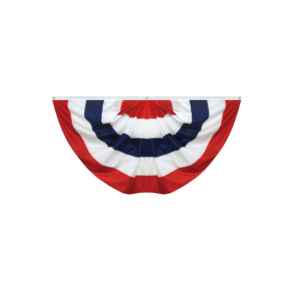 Large Pleated Fan Bunting