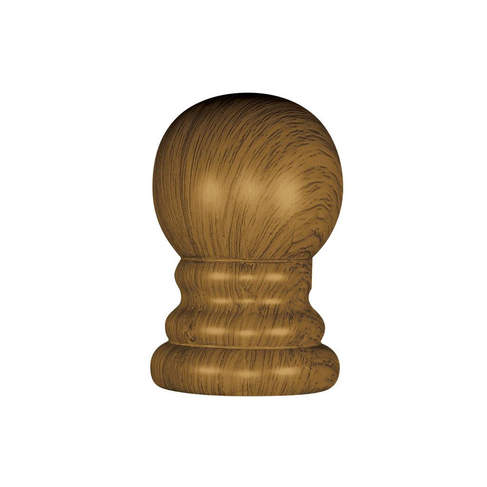 Wood Grain Ball Ornament