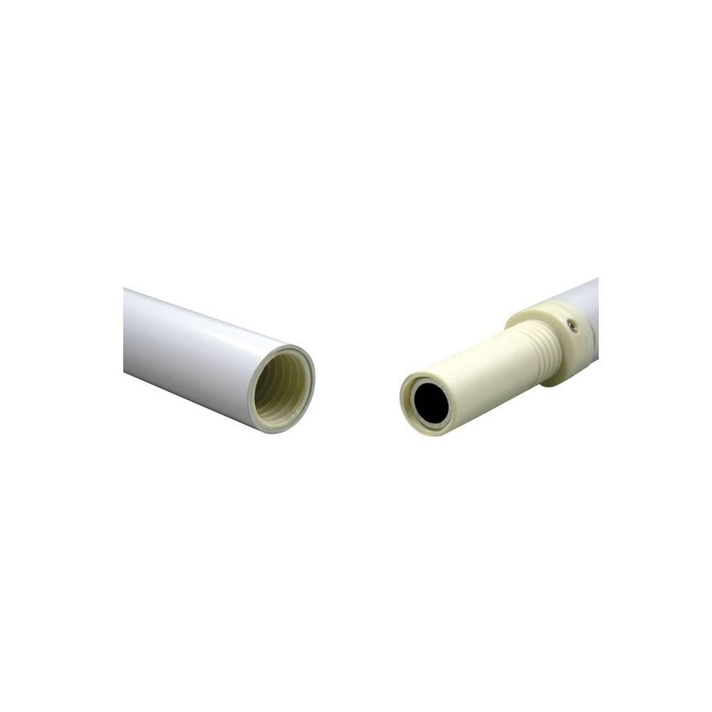 White Aluminum Spinning Flagpole