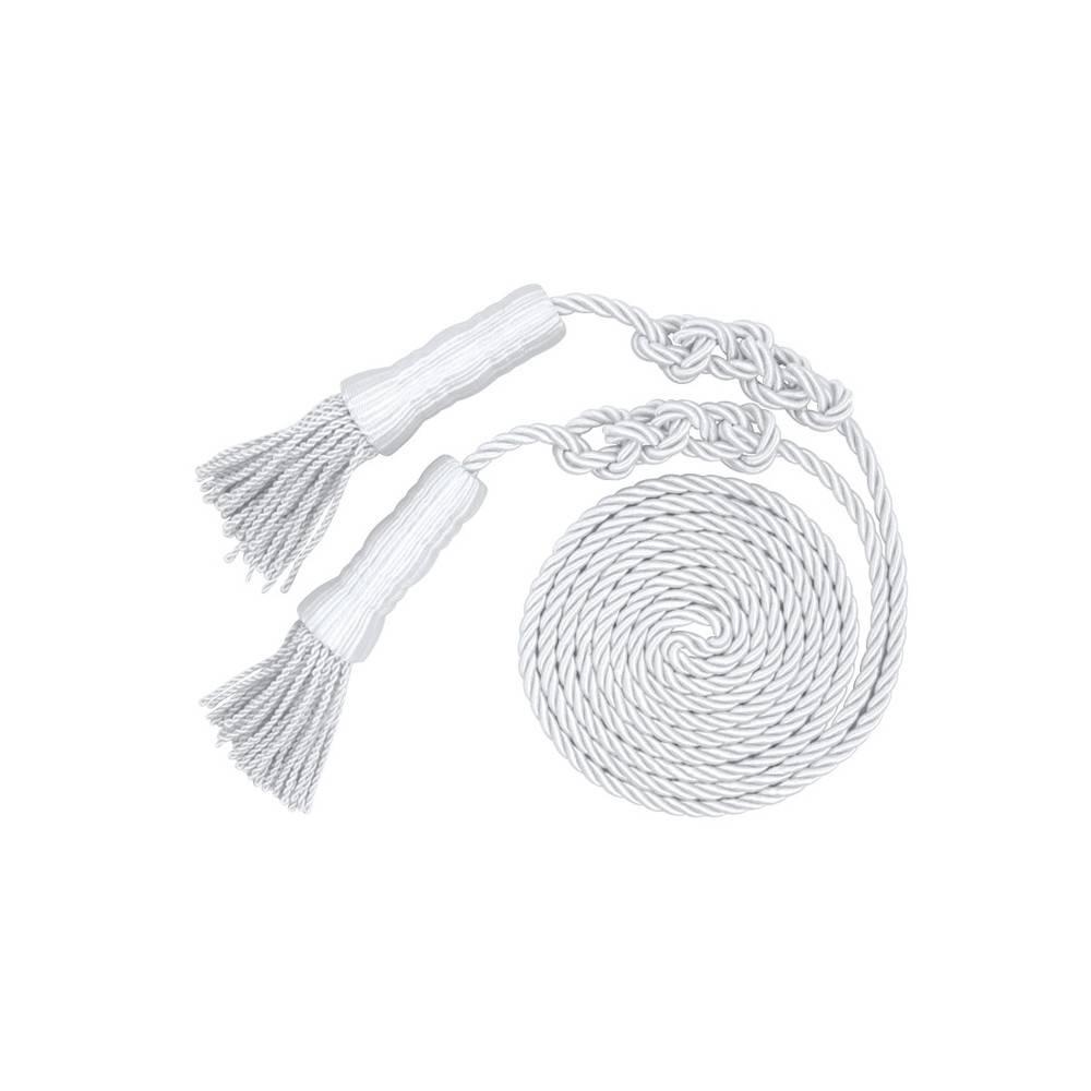 Cord & Tassel - White