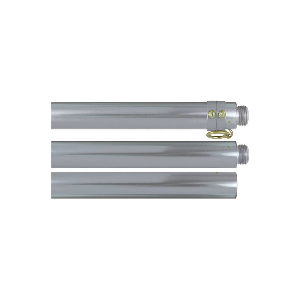 Two-Piece Silver Deluxe Aluminum Flagpole