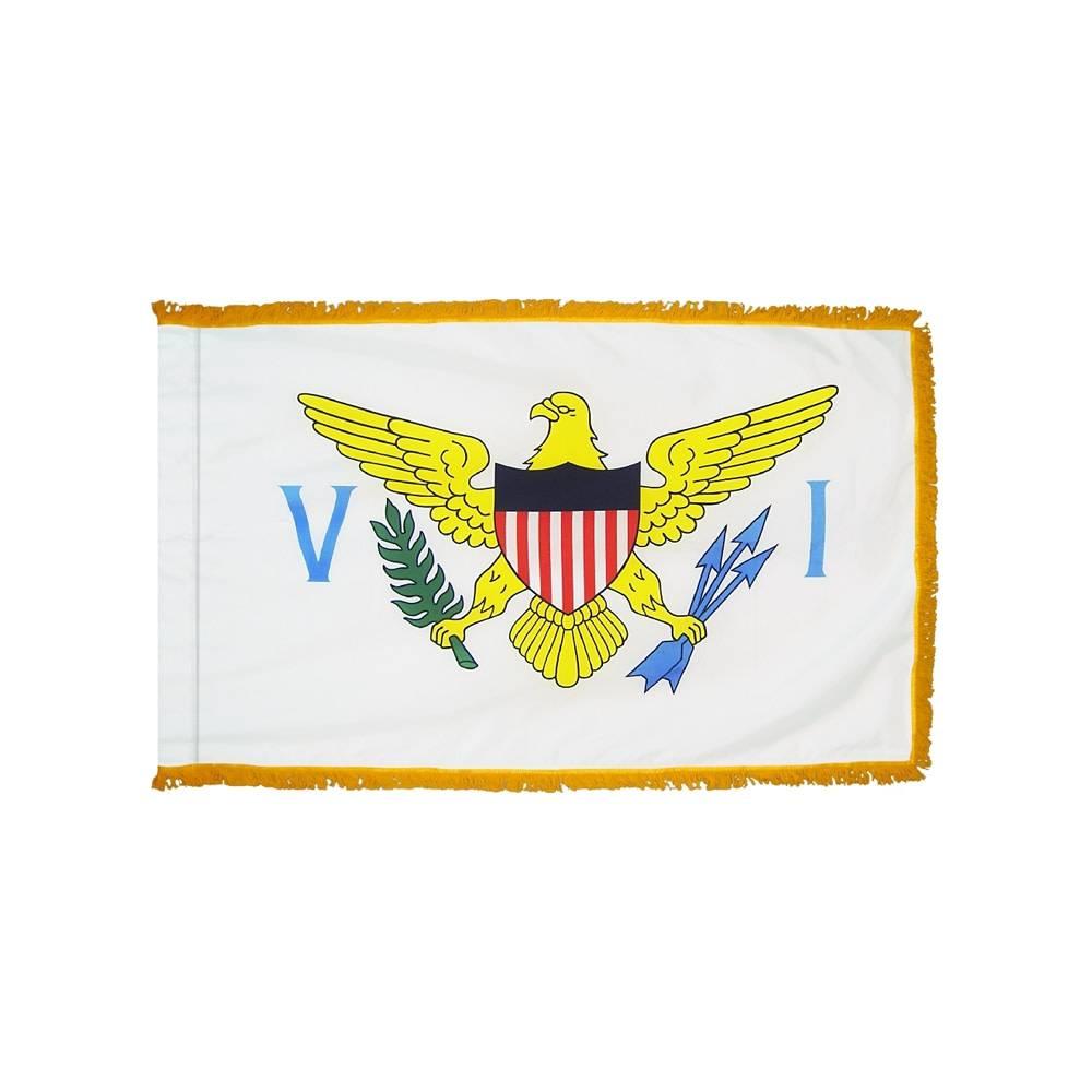 US Virgin Islands Flag with Polesleeve & Fringe