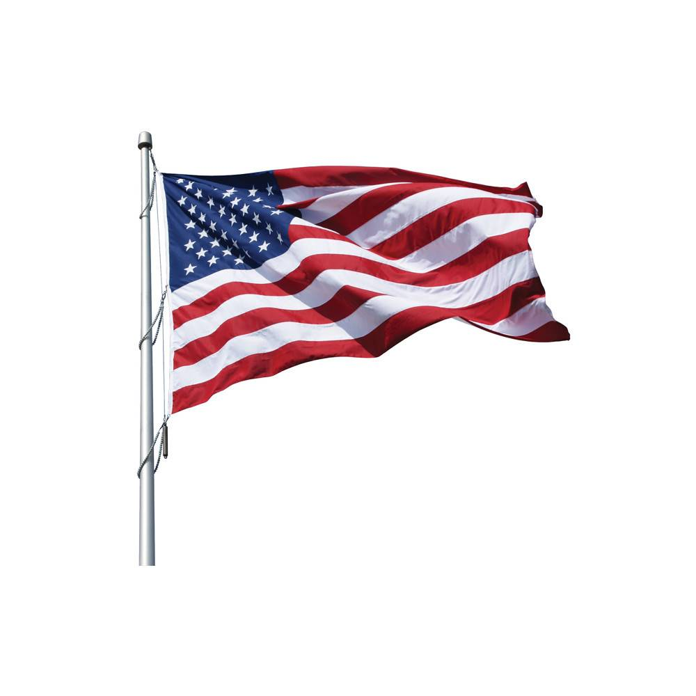 Large, Premium High-Wind Polyester American Flag