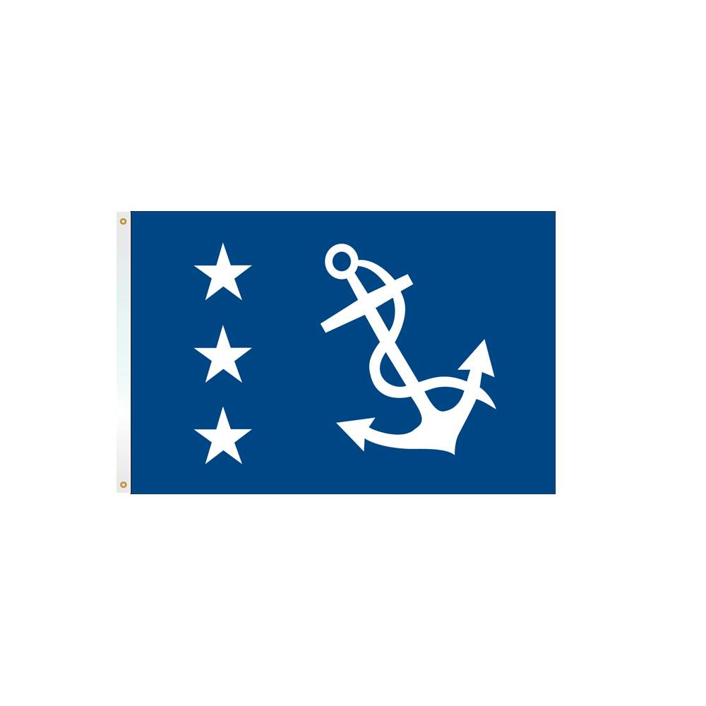 12x18 in. Past Commodore Nautical Flag