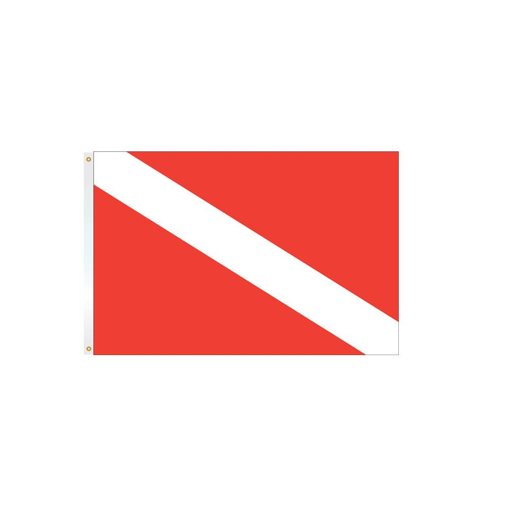 12x18 in. Skin Diver Nautical Flag