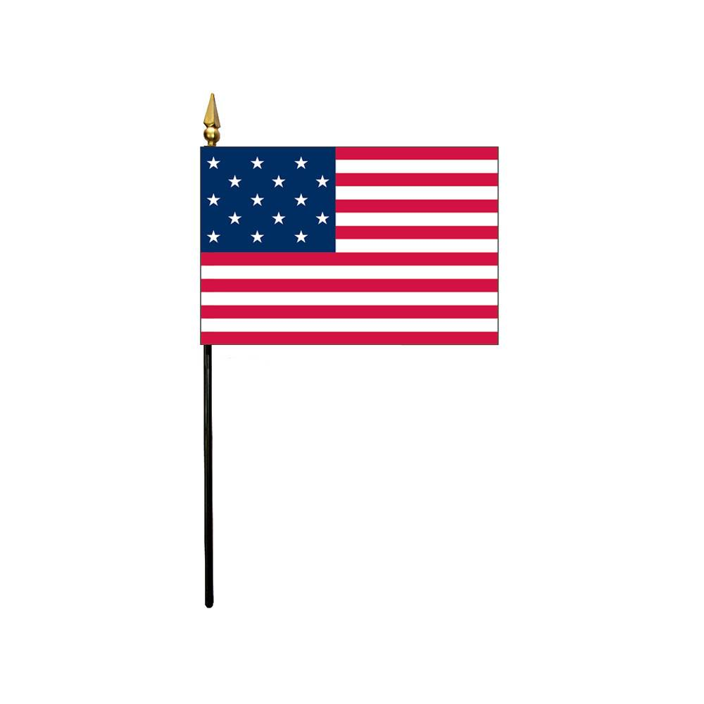 4x6 in 15-Star Fort McHenry Stick Flag