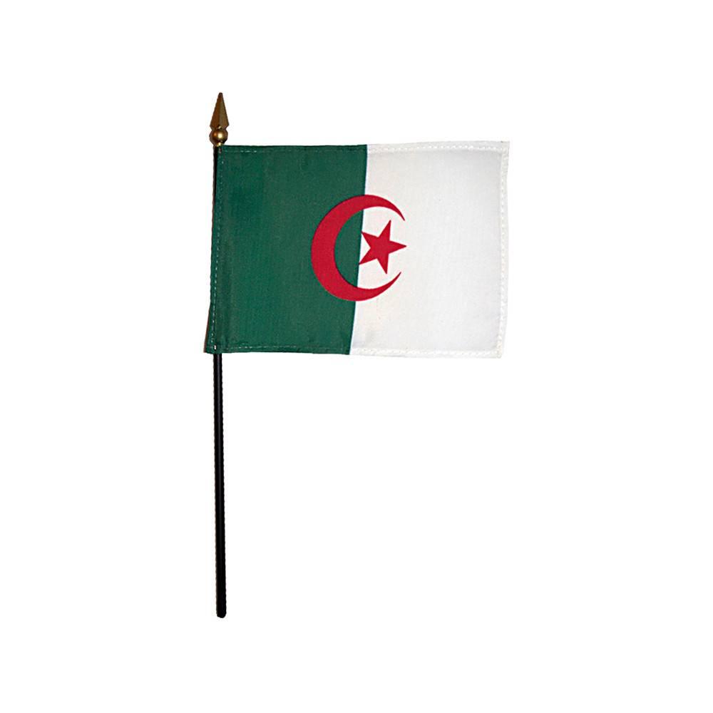 Algeria Stick Flag 4x6 in