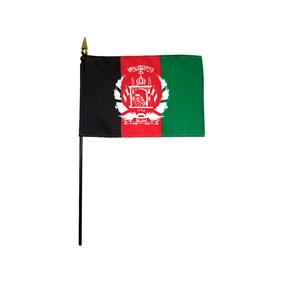 Afghanistan Stick Flag 4x6 in