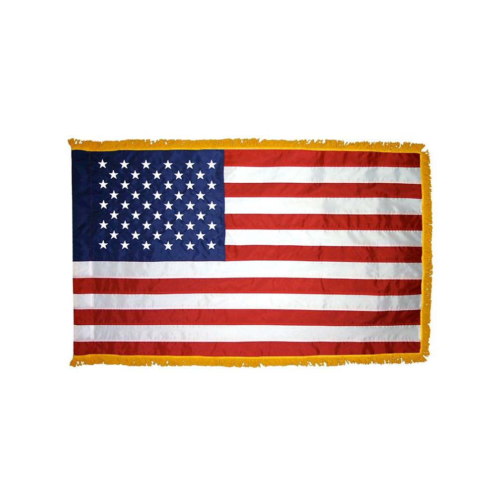 Indoor & Parade American Flag with Fringe
