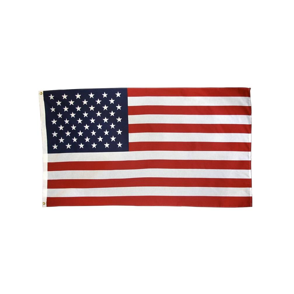 American Flag Printed on Polyester-Cotton