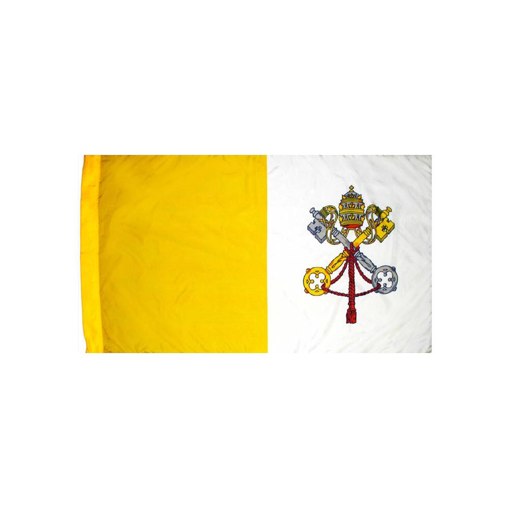 Papal Flag with Polesleeve