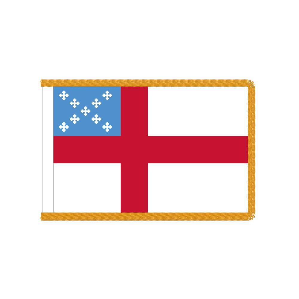 Episcopal Flag with Polesleeve & Fringe