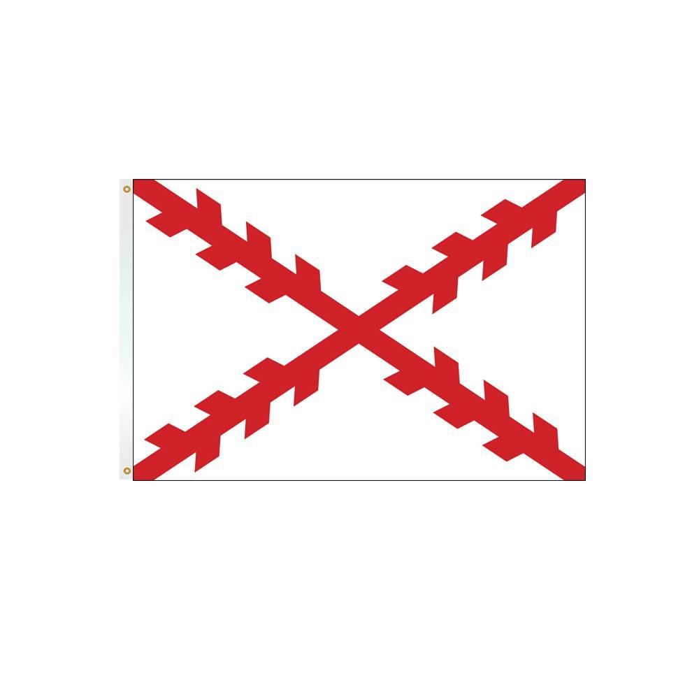 3x5 ft. Cross of Burgundy Flag
