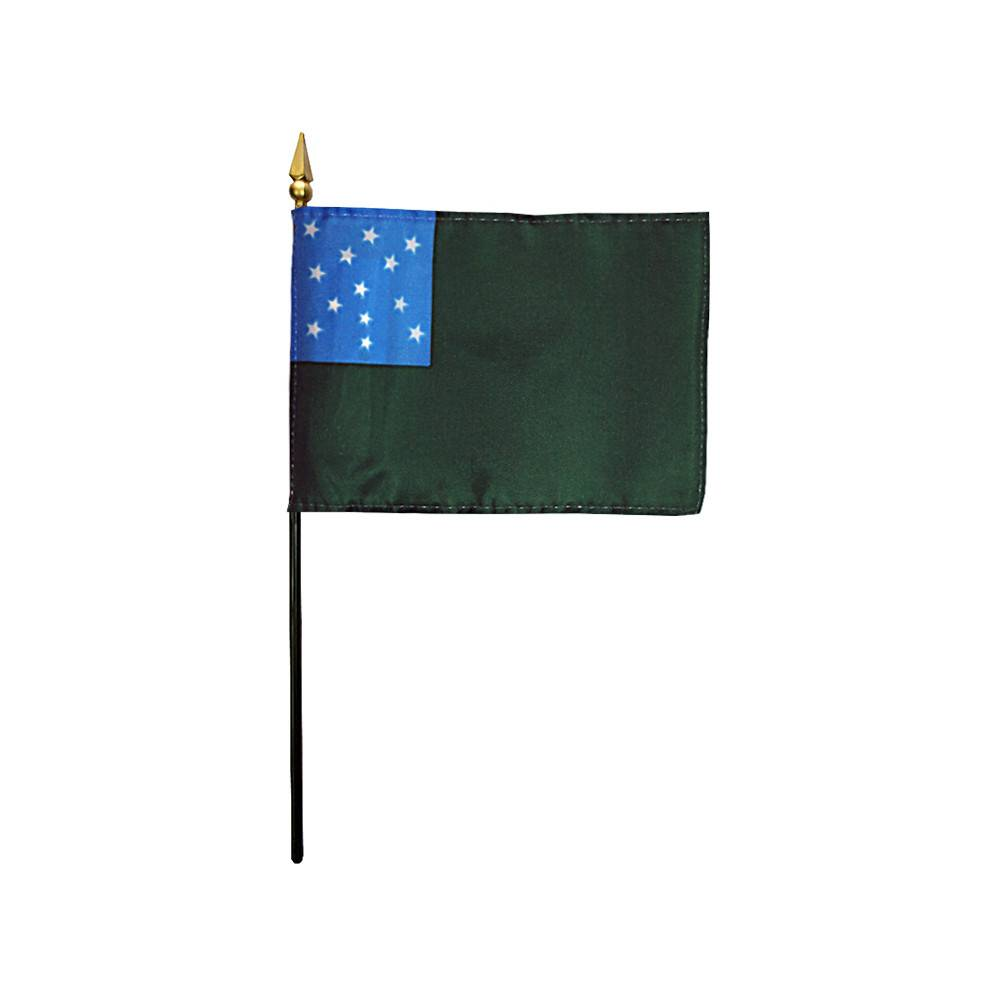 4x6 in Green Mountain Boys Stick Flag