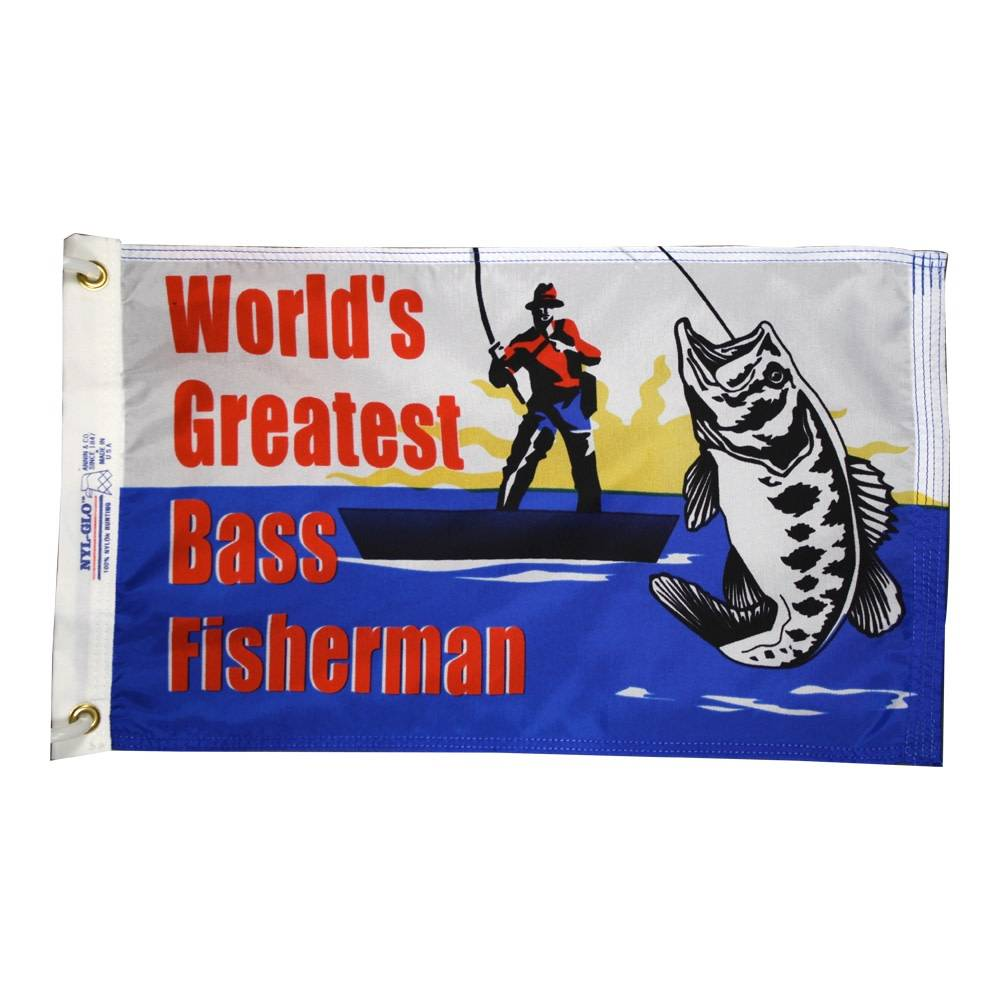 12x18 in. World's Greatest Bass Fisherman
