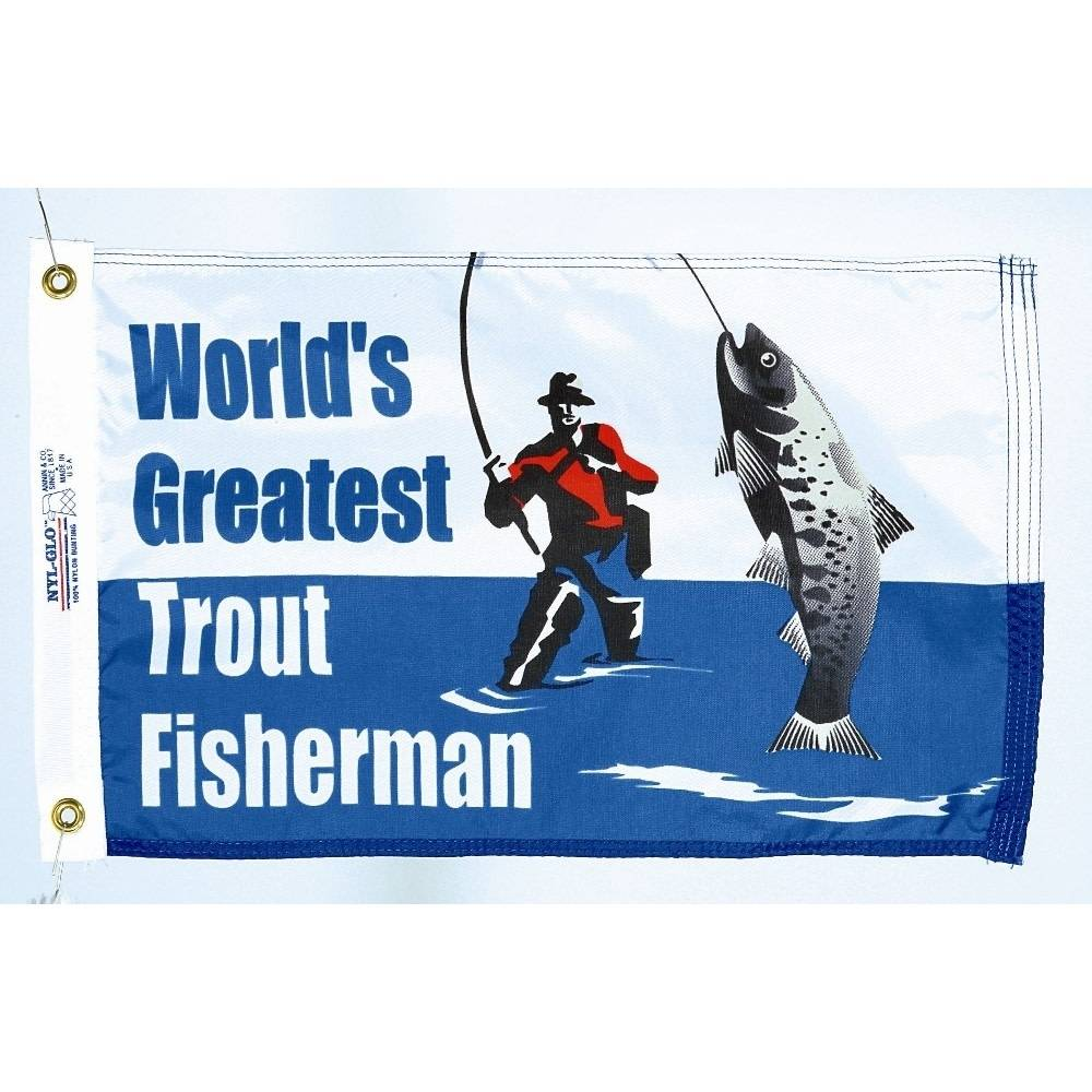 12x18 in. World's Greatest Trout Fisherman