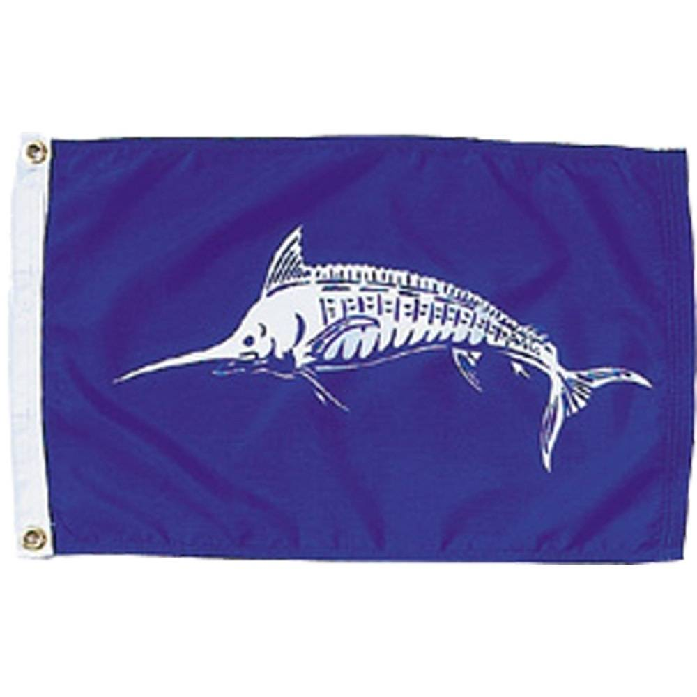 12x18 in. White Marlin Nautical Flag