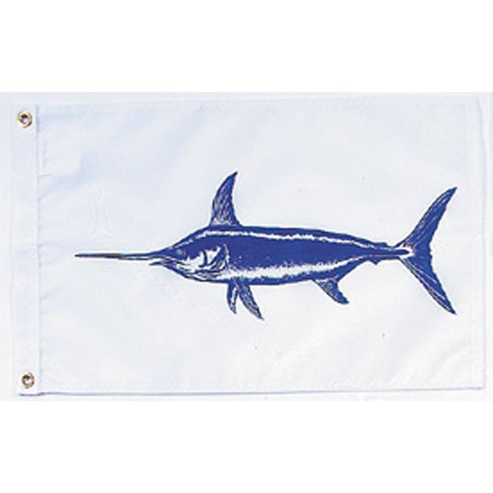 12x18 in. Swordfish Nautical Flag