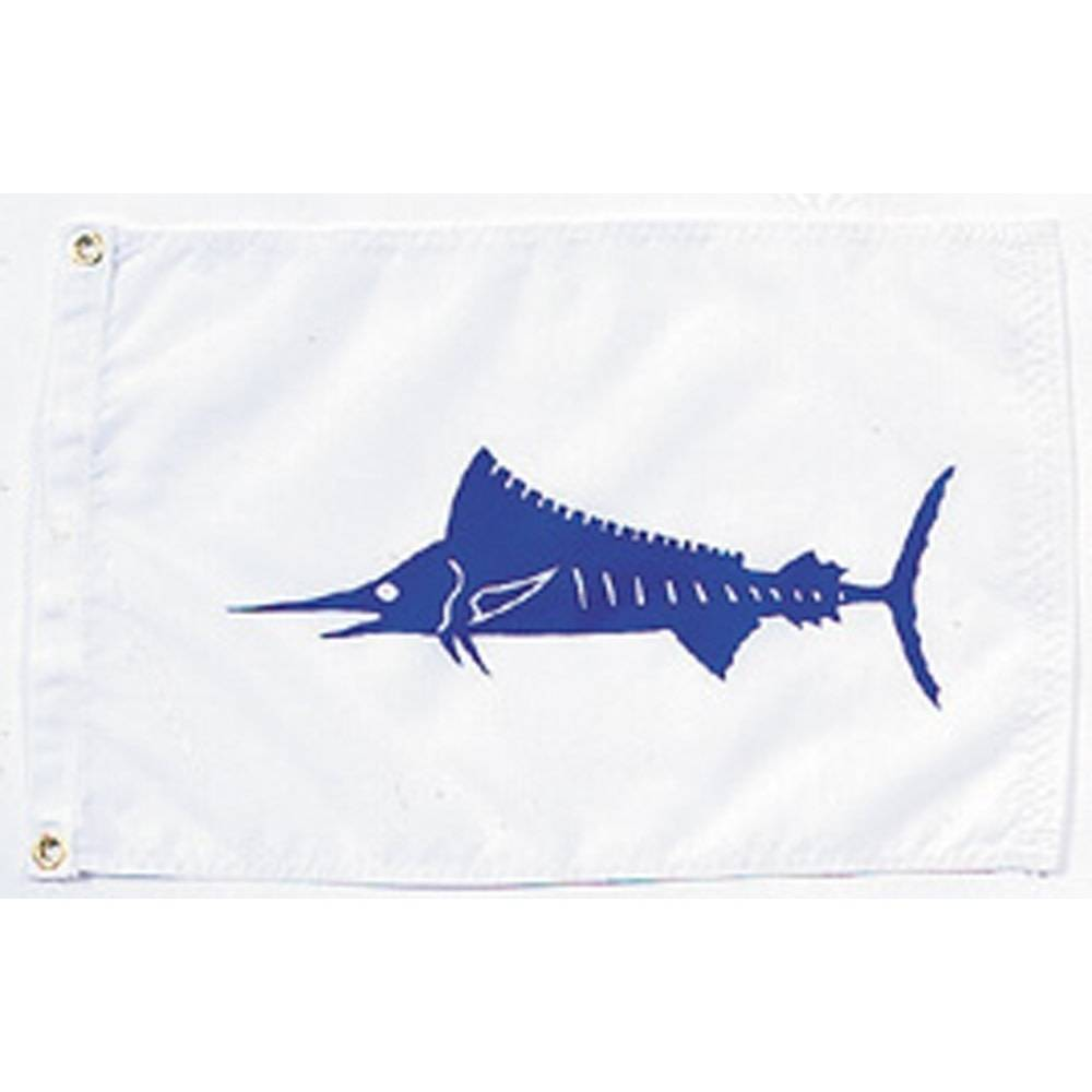 12x18 in. Marlin Nautical Flag