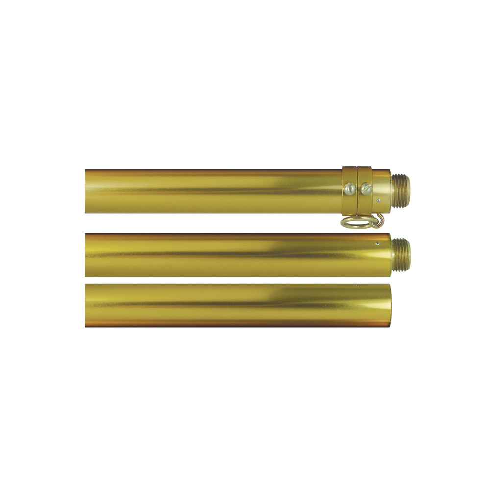 Two-Piece Gold Deluxe Aluminum Flagpole