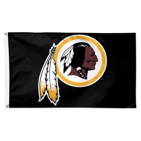 3x5 ft. Black Washington Redskins Flag