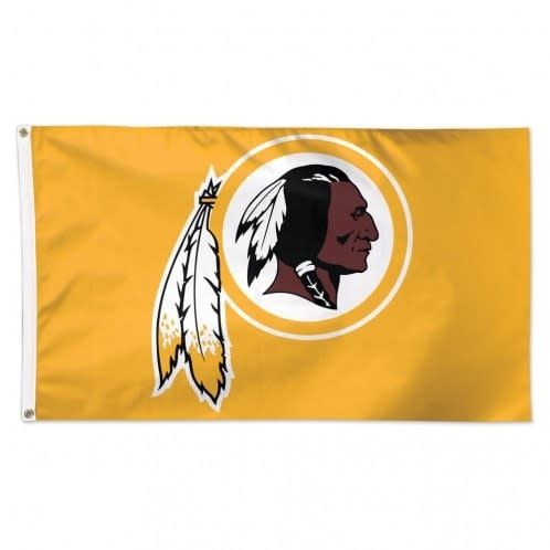 Gold Washington Redskins Flag