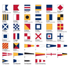Complete Signal Flag Set with Rope & Toggles