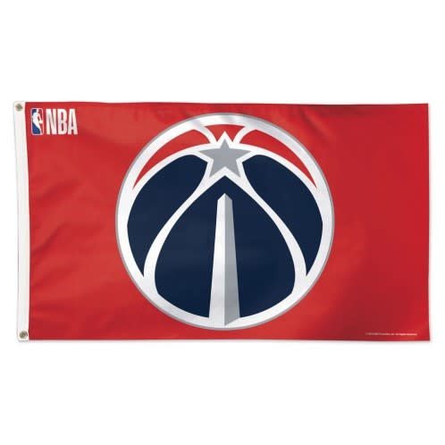 Red Washington Wizards Flag