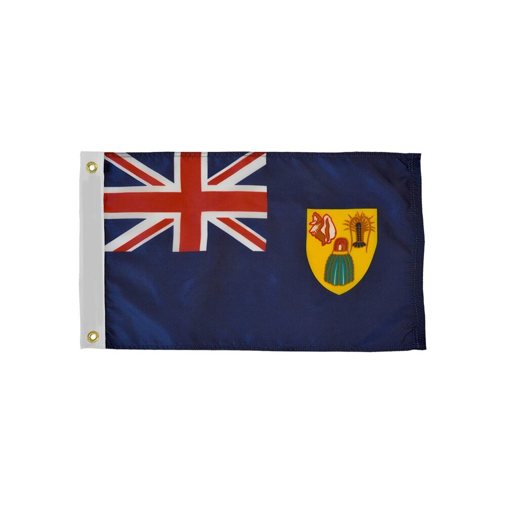 12x18 in. Turks & Caicos Nautical Flag