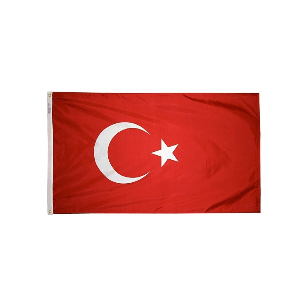 12x18 in. Turkey Nautical Flag