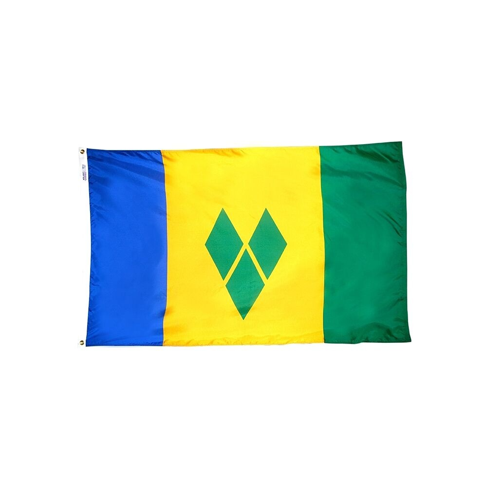 12x18 in. Saint Vincent & Grenadines Nautical Flag
